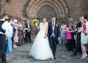 confetti shot - Wedding Photography - Toland Photography - Staffordshire