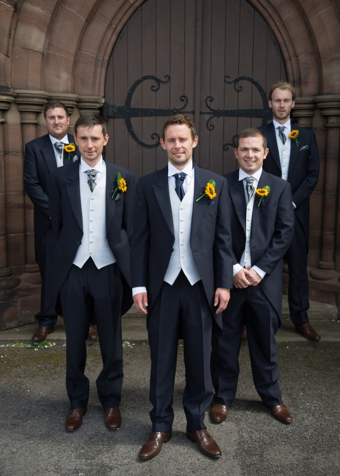 Grooms men - Wedding Photography - Toland Photography - Staffordshire