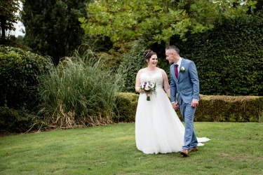 Bride and Groom Portraits, Moat House Wedding