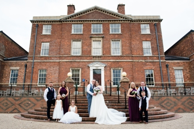 Group portraits, Moat House Wedding Photography